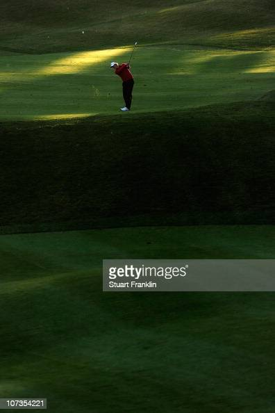 Jamie Elson of England in action during the second round of the European Tour qualifying school final stage at PGA golf de Catalunya on December 6...