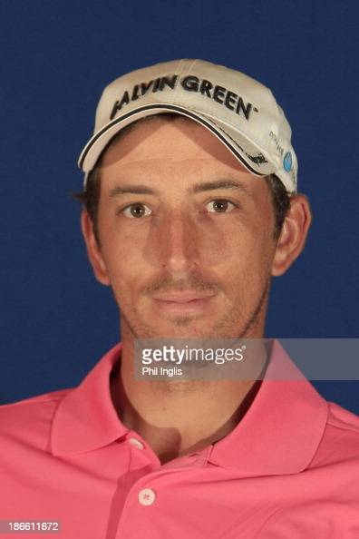 Jamie Elson of England poses for a media portrait prior to the first round of the Dubai Festival City Challenge tour Grand Final played at Al Badia...