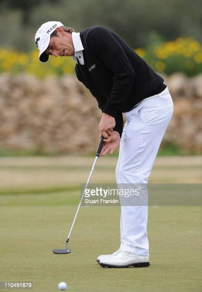 Jamie Elson of England putting on the first hole during the final round of the Sicilian Open at the Donnafugata golf resort and spa on March 20 2011...