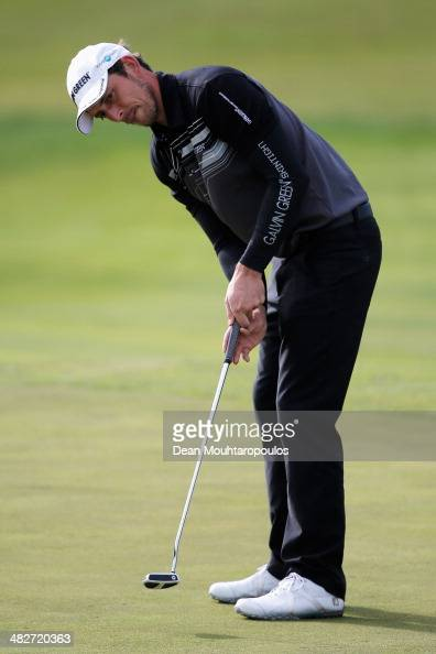Jamie Elson of England putts on the 8th green during day two of the NH Collection Open held at La Reserva de Sotogrande Club de Golf on April 4 2014...