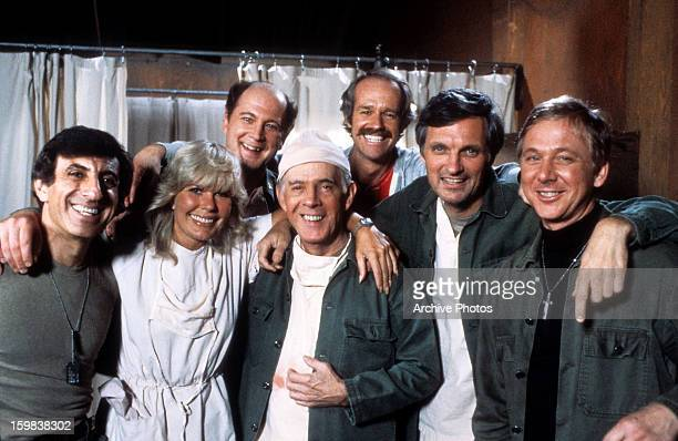 Jamie Farr Loretta Swit David Ogden Stiers Harry Morgan Mike Farrell Alan Alda and William Christopher in publicity portrait for the film 'M*A*S*H'...