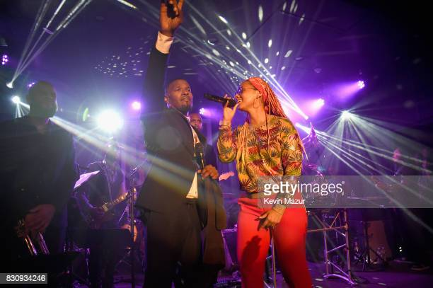 Jamie Foxx and Alicia Keys perform onstage at Apollo in the Hamptons 2017 hosted by Ronald O Perelman at The Creeks on August 12 2017 in East Hampton...