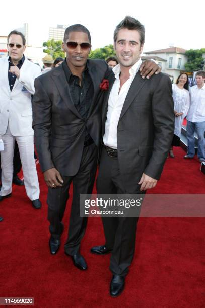 Jamie Foxx and Colin Farrell during Universal Pictures Presents the World Premiere of 'Miami Vice' at Mann Village Theater in Westwood California...