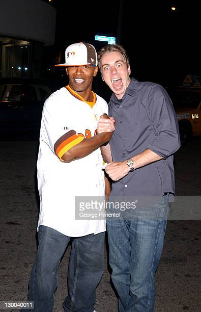 Jamie Foxx and Dax Shepard during Ashton Kutcher Hosts KickOff Party for MTV Movie Awards at Dolce in West Hollywood California United States