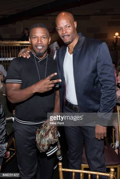 Jamie Foxx and Keenan Ivory Wayans attend the Sherri Hill fashion show at Gotham Hall on September 12 2017 in New York City