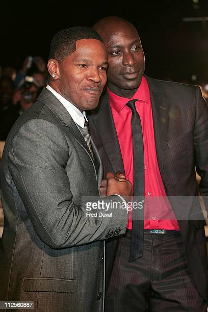 Jamie Foxx and Ozwald Boateng attend The Kingdom film premiere held at the Odeon West End on October 4 2007 in London