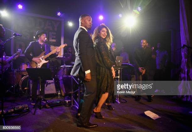 Jamie Foxx and Priyanka Chopra perform onstage at Apollo in the Hamptons 2017 hosted by Ronald O Perelman at The Creeks on August 12 2017 in East...