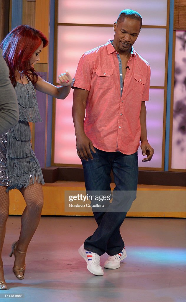 Jamie Foxx appears on Univision's 'Despierta America' to promote film 'White House Down' at Univision Headquarters on June 24, 2013 in Miami, Florida.
