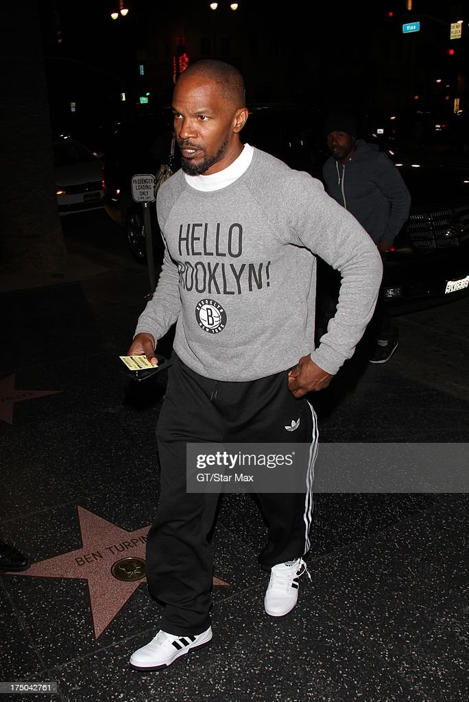 <a gi-track='captionPersonalityLinkClicked' href=/galleries/search?phrase=Jamie+Foxx&family=editorial&specificpeople=201715 ng-click='$event.stopPropagation()'>Jamie Foxx</a> as seen on July 29, 2013 in Los Angeles, California.