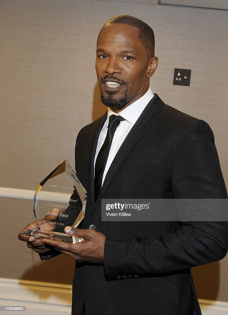 Jamie Foxx attends 13th Annual Harold And Carole Pump Foundation Gala Honoring Jamie Foxx, Shaquille O'Neal, And Joe Torre at The Beverly Hilton Hotel on August 9, 2013 in Beverly Hills, California.