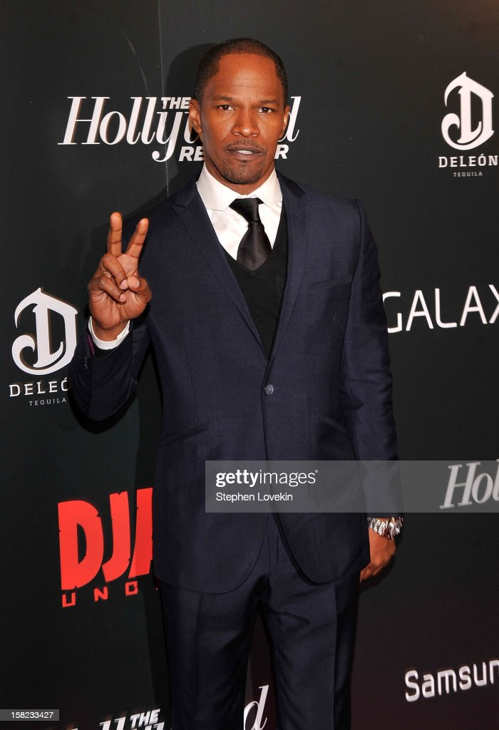 <a gi-track='captionPersonalityLinkClicked' href=/galleries/search?phrase=Jamie+Foxx&family=editorial&specificpeople=201715 ng-click='$event.stopPropagation()'>Jamie Foxx</a> attends a screening of 'Django Unchained' hosted by The Weinstein Company with The Hollywood Reporter, Samsung Galaxy and The Cinema Society at Ziegfeld Theater on December 11, 2012 in New York City.
