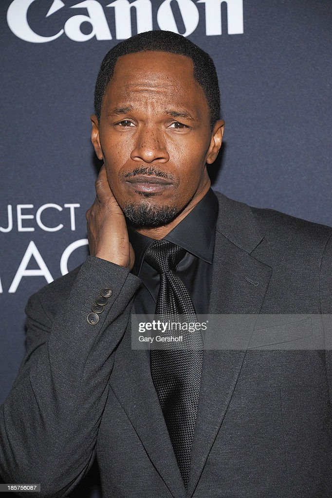 Jamie Foxx attends Canon's 'Project Imaginat10n' Film Festival opening night at Alice Tully Hall at Lincoln Center on October 24 2013 in New York City