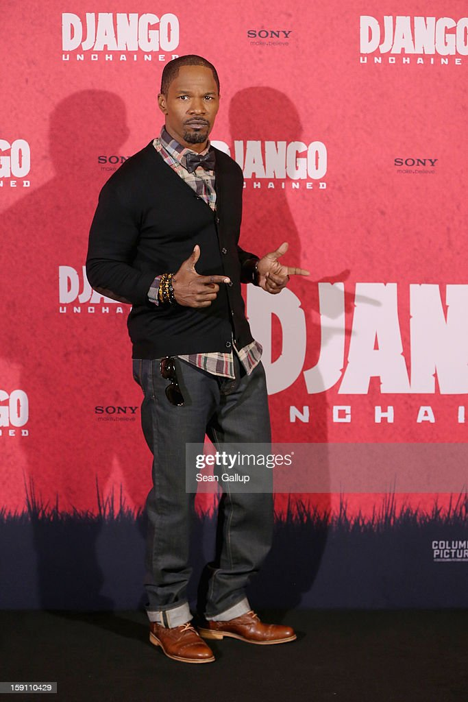 <a gi-track='captionPersonalityLinkClicked' href=/galleries/search?phrase=Jamie+Foxx&family=editorial&specificpeople=201715 ng-click='$event.stopPropagation()'>Jamie Foxx</a> attends 'Django Unchained' Berlin Photocall at Hotel de Rome on January 8, 2013 in Berlin, Germany.