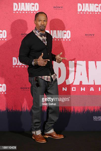 Jamie Foxx attends 'Django Unchained' Berlin Photocall at Hotel de Rome on January 8 2013 in Berlin Germany