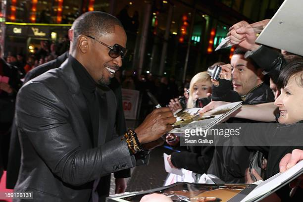 Jamie Foxx attends 'Django Unchained' Berlin Premiere at Cinestar Potsdamer Platz on January 8 2013 in Berlin Germany