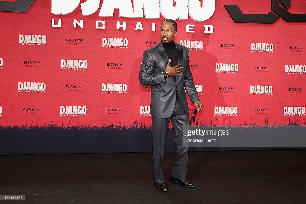 Jamie Foxx attends 'Django Unchained' Berlin Premiere at Cinestar Potsdamer Platz on January 8, 2013 in Berlin, Germany.