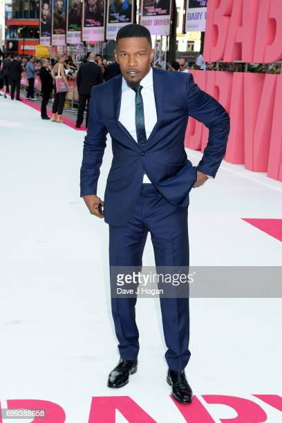Jamie Foxx attends the European Premiere of 'Baby Driver' at Cineworld Leicester Square on June 21 2017 in London England