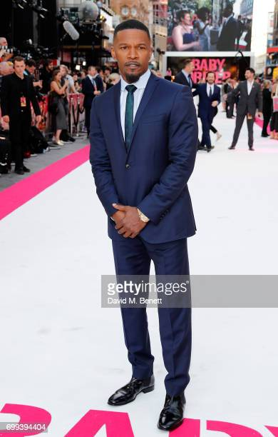 Jamie Foxx attends the European Premiere of 'Baby Driver' at Cineworld Leicester Square on June 21 2017 in London United Kingdom