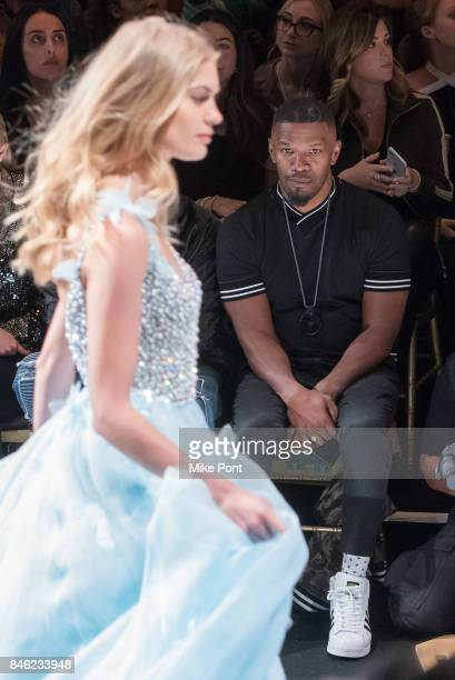 Jamie Foxx attends the Sherri Hill fashion show at Gotham Hall on September 12 2017 in New York City