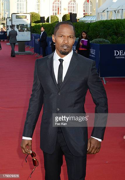 Jamie Foxx attends the 'White House Down' Premiere at The 39th Deauville Film Festival at the CID on September 1 2013 in Deauville France