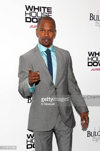 Jamie Foxx attends the 'White House Down' premiere at the Ziegfeld Theater on June 25 2013 in New York City