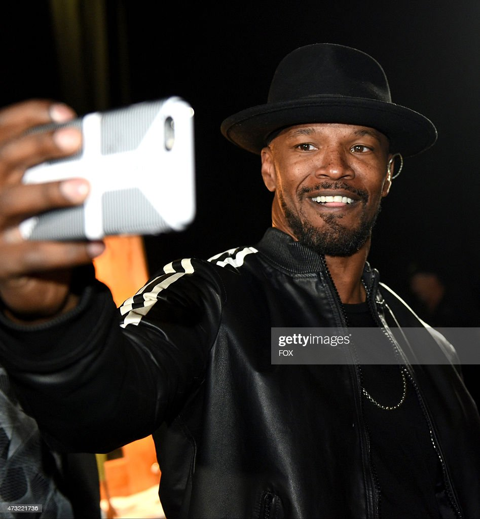 Jamie Foxx backstage at FOX's 'American Idol XIV' Finale on May 13, 2015 at the Dolby Theater in Hollywood, California.