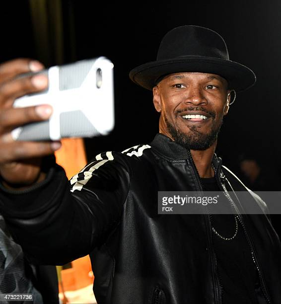 Jamie Foxx backstage at FOX's 'American Idol XIV' Finale on May 13 2015 at the Dolby Theater in Hollywood California
