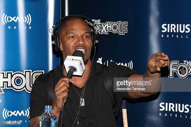 Jamie Foxx Brings his Sirius XM Foxxhole Radio to Super Bowl weekend on February 5 2010 in Miami Beach Florida