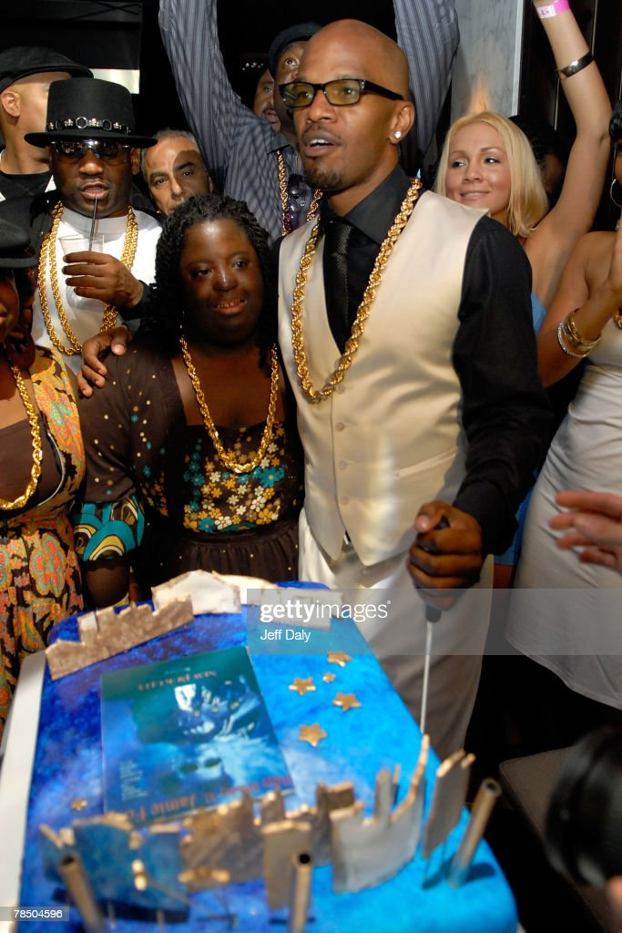 Jamie Foxx celebrates his 40th birthday hosted by Belvedere Vodka at The Florida Room located within The Delano Hotel on December 15, 2007 in Miami Beach, Florida.