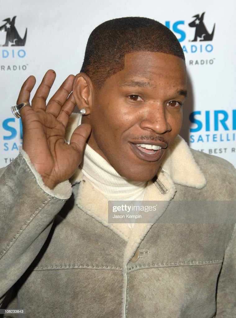 Jamie Foxx during Jamie Foxx Launches 'The Foxxhole' Channel January 23 2007 at Sirius Satellite Radio Station in New York City New York United States