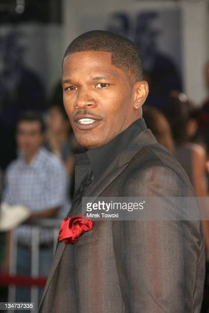 Jamie Foxx during 'Miami Vice' Los Angeles World Premiere at Mann Village Theatre in Westwood California United States