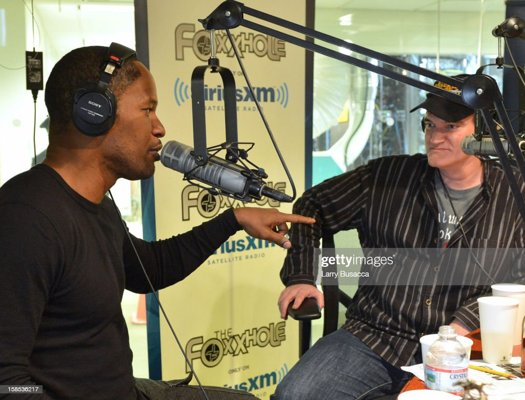 Jamie Foxx Interviews Quentin Tarantino about their new movie 'Django Unchained' on his SiriusXM Channel The Foxxhole at SIRIUS XM Studio on December...