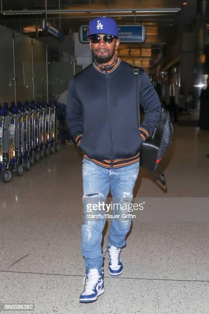 Jamie Foxx is seen at Los Angeles International Airport on October 25 2017 in Los Angeles California
