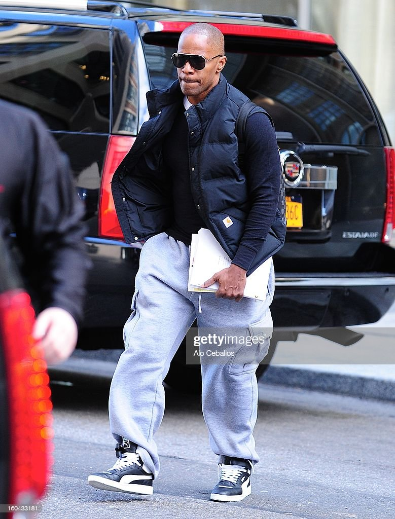 <a gi-track='captionPersonalityLinkClicked' href=/galleries/search?phrase=Jamie+Foxx&family=editorial&specificpeople=201715 ng-click='$event.stopPropagation()'>Jamie Foxx</a> is seen in Soho on January 31, 2013 in New York City.