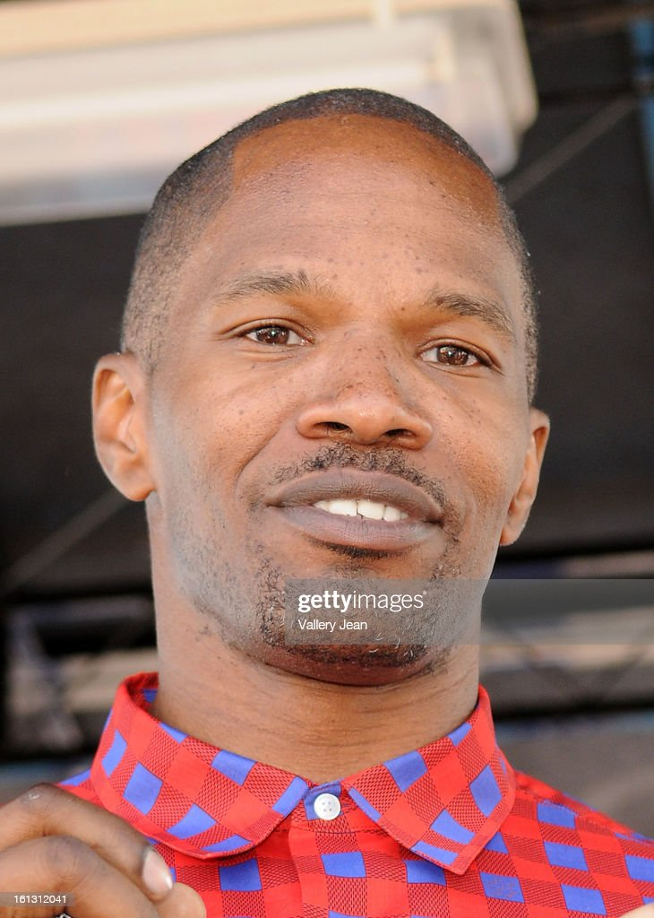 <a gi-track='captionPersonalityLinkClicked' href=/galleries/search?phrase=Jamie+Foxx&family=editorial&specificpeople=201715 ng-click='$event.stopPropagation()'>Jamie Foxx</a> is sighted at south Beach on February 9, 2013 in Miami Beach, Florida.