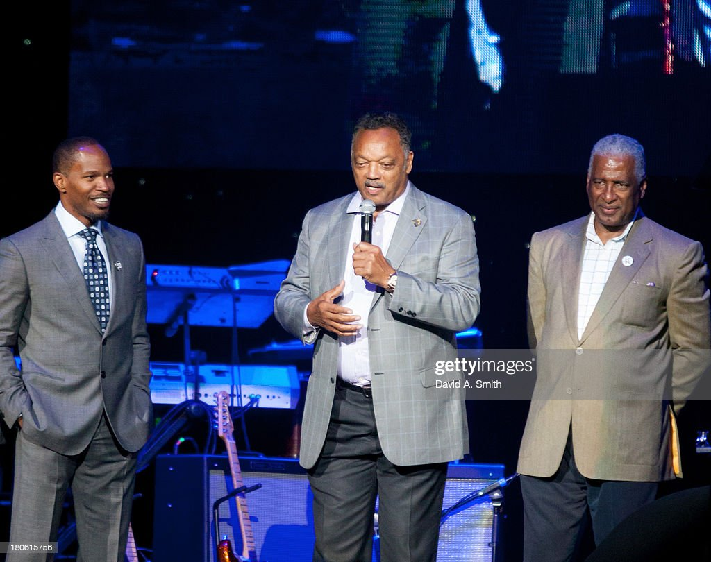 <a gi-track='captionPersonalityLinkClicked' href=/galleries/search?phrase=Jamie+Foxx&family=editorial&specificpeople=201715 ng-click='$event.stopPropagation()'>Jamie Foxx</a>, Jesse Jackson, and William Bell attend BBVA Compass Concert For Human Rights Hosted By <a gi-track='captionPersonalityLinkClicked' href=/galleries/search?phrase=Jamie+Foxx&family=editorial&specificpeople=201715 ng-click='$event.stopPropagation()'>Jamie Foxx</a> at The Birmingham Jefferson Convention Center on September 14, 2013 in Birmingham, Alabama.