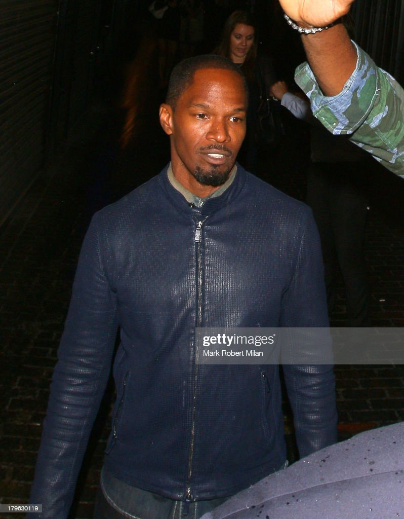 <a gi-track='captionPersonalityLinkClicked' href=/galleries/search?phrase=Jamie+Foxx&family=editorial&specificpeople=201715 ng-click='$event.stopPropagation()'>Jamie Foxx</a> leaving the Box night club on September 5, 2013 in London, England.