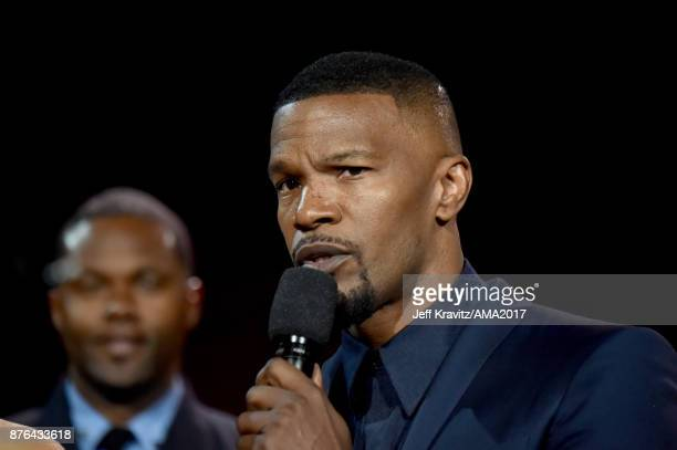 Jamie Foxx onstage during the 2017 American Music Awards at Microsoft Theater on November 19 2017 in Los Angeles California