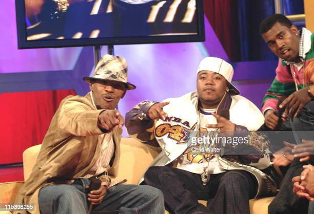 Jamie Foxx Twista and Kanye West on BET's '106 Park' live in Hollywood
