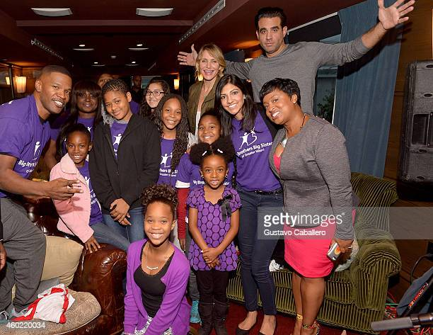 Jamie FoxxQuvenzhane WallisCameron Diaz and Bobby Cannavale attends the Jamie Foxx Hosts A Roundtable Special With The Cast Of 'Annie' On His...