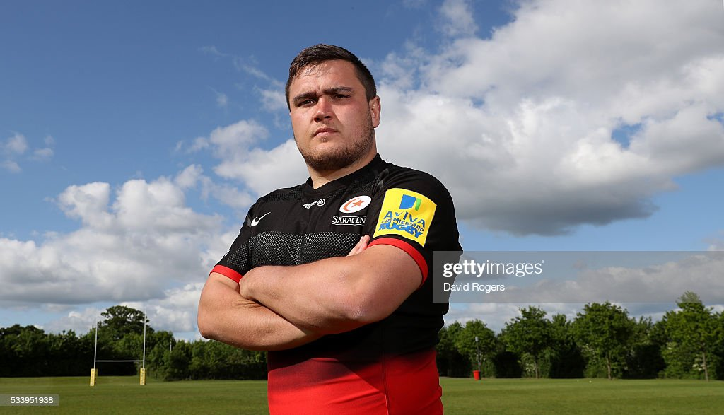 <a gi-track='captionPersonalityLinkClicked' href=/galleries/search?phrase=Jamie+George+-+Rugbyer&family=editorial&specificpeople=11374238 ng-click='$event.stopPropagation()'>Jamie George</a> of Saracens poses during the Saracens media session held on May 24, 2016 in St Albans, England.