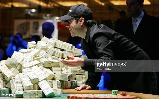 Jamie Gold of California goads his opponent into betting on what proved to be the final hand of the World Series of Poker nolimit Texas Hold 'em main...