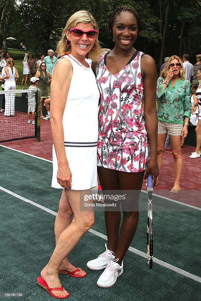 Jamie Gregory and Venus Williams attend the EleVen by Venus Williams party on August 11, 2012 in Southampton, New York.