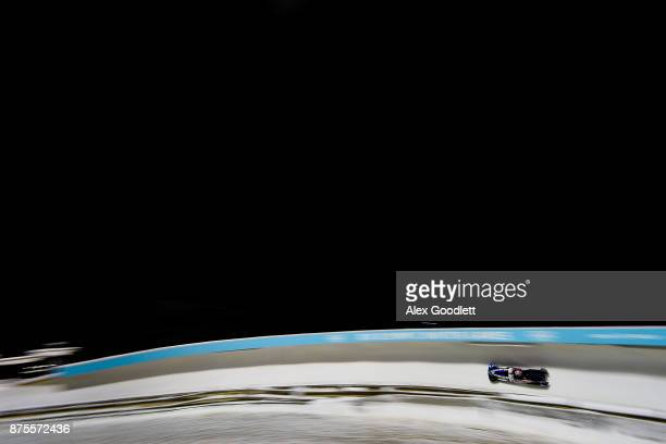 Jamie Greubel Poser and Lauren Gibbs of the USA compete in the two woman bobsleigh during the MW IBSF Bobsleigh and Skeleton World Cupon November 17...