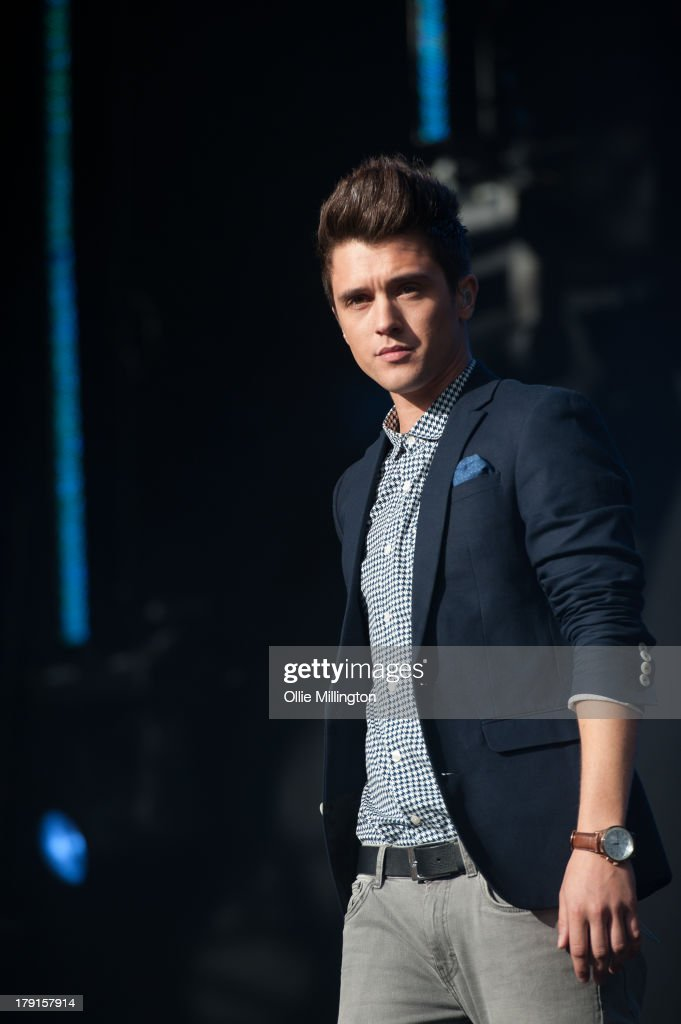 Jamie Hamblett of Union J performs on stage on Day 1 of Fusion Festival 2013 at Cofton Park on August 31, 2013 in Birmingham, England.