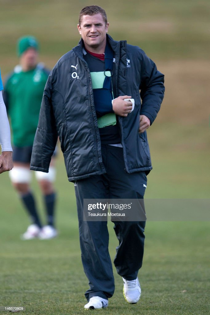 <a gi-track='captionPersonalityLinkClicked' href=/galleries/search?phrase=Jamie+Heaslip&family=editorial&specificpeople=171469 ng-click='$event.stopPropagation()'>Jamie Heaslip</a> looks on during an Ireland rugby training session on June 20, 2012 in Queenstown, New Zealand.