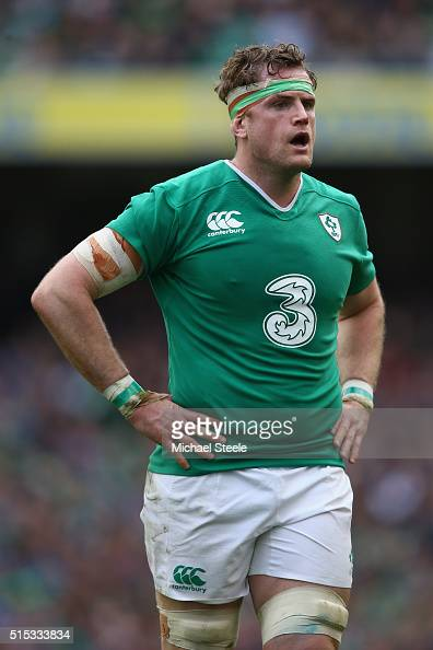 Jamie Heaslip of Ireland during the RBS Six Nations match between Ireland and Italy at the Aviva Stadium on March 12 2016 in Dublin Ireland