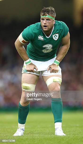 Jamie Heaslip of Ireland looks on during the International match between Wales and Ireland at the Millennium Stadium on August 8 2015 in Cardiff Wales