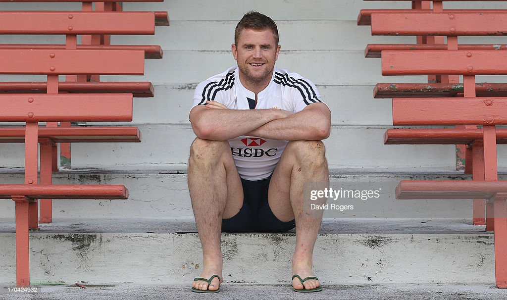 <a gi-track='captionPersonalityLinkClicked' href=/galleries/search?phrase=Jamie+Heaslip&family=editorial&specificpeople=171469 ng-click='$event.stopPropagation()'>Jamie Heaslip</a> of the Lions poses after the British and Irish Lions training session at North Sydney Oval on June 13, 2013 in Sydney, Australia.