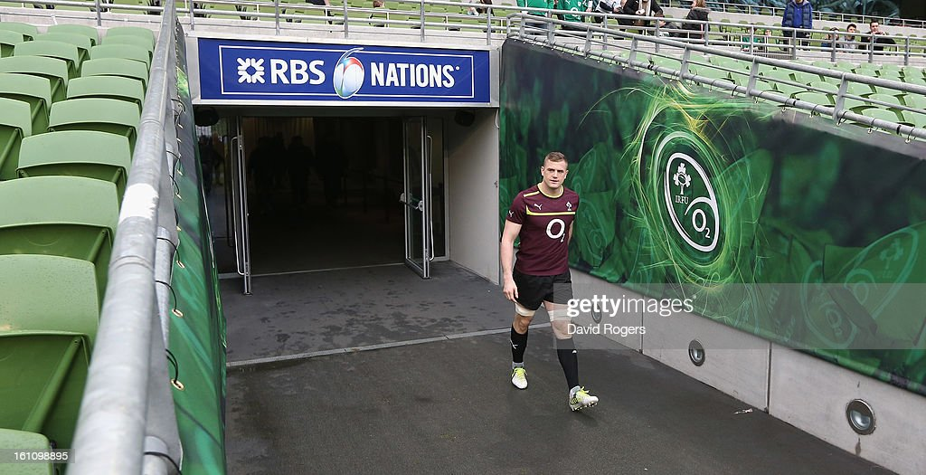 <a gi-track='captionPersonalityLinkClicked' href=/galleries/search?phrase=Jamie+Heaslip&family=editorial&specificpeople=171469 ng-click='$event.stopPropagation()'>Jamie Heaslip</a>, the Ireland captain, walks down the tunnel during the Ireland captain's run at the Aviva Stadium on February 9, 2013 in Dublin, Ireland.
